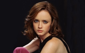 Picture eyes, hair, actress, Alexis Bledel, Alexis Bledel