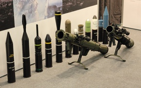 Wallpaper gun, weapon, army, rifle, ammunition, show, cannon, Swedish, olive, exhibition, M3, Swedish armed forces, recoilless ...