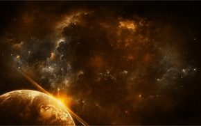 Picture space, stars, nebula, the universe, planet