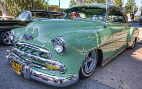 Picture The city, Street, 1952, Chevrolet Bel Air