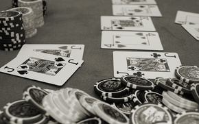 Picture card, grey, poker