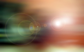 Picture abstraction, glare, color, ray