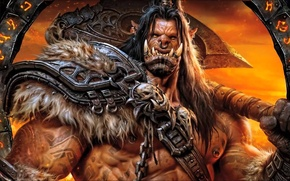 Picture armor, Warrior, axe, Orc