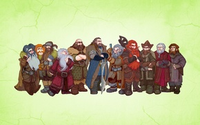 Picture dwarves, The Lord of the rings, light background, The Lord of the Rings, The hobbit …