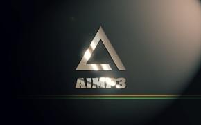 Picture music, player, logo, Logo, player, AIMP3, AIMP, AIMP