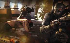 Picture gas mask, hostage, special forces, SAS, victories, the gun, rainbow six