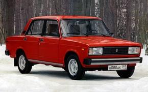 Picture red, sedan, Lada, Lada, ваз2105
