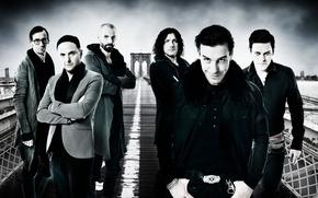 Picture group, Germany, ring, chain, strap, jacket, Rammstein, grin, men, Till Lindemann, Oliver Riedel, Till Lindemann, ...