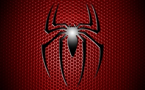 Picture red, logo, comic, Spiderman