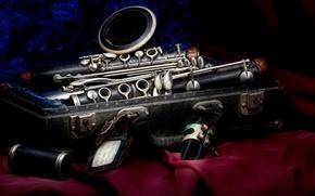 Picture style, velvet, case, Clarinet