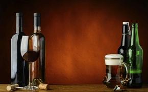 Picture wine, beer, drinks