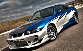 Picture Nissan, Skyline, R33, airbrush