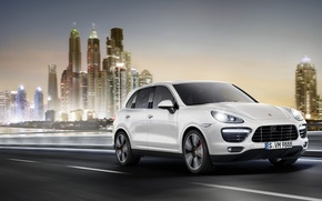 Picture the city, speed, Porsche, cayenne, Porsche Cayenne, Cayenne