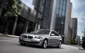 Picture The city, BMW, Boomer, Grey, BMW, Day, 5 Series, The front