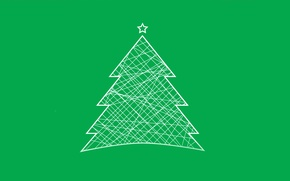 Wallpaper Christmas, Tree, Minimalism