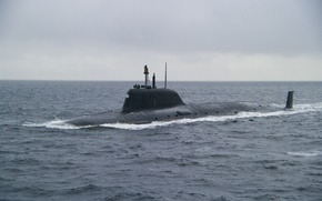 """Picture sea, hike, submarine, """"Ash"""", project 885"""