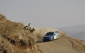 Picture Blue, Subaru, Impreza, Sport, Race, Skid, WRC, Rally