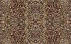 Picture leaves, flowers, background, Wallpaper, patterns, carpet, texture, ornament