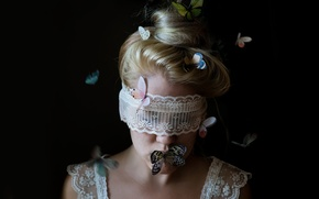 Picture girl, butterfly, fantasy