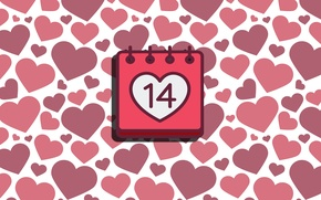 Picture love, holiday, heart, texture, Valentine, calendar