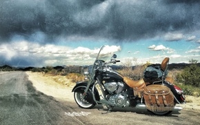 Picture road, style, motorcycle, bike, legend, Indian Chief