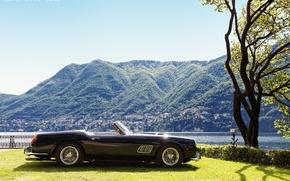 Picture mountains, retro, tree, Italy, classic, lawn, Italy, California, lake Como, 1961, Como, Como, Lombardy, Lake …