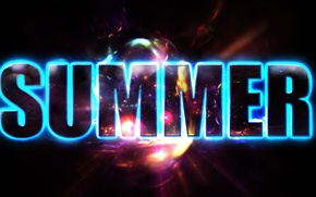 Picture summer, text, glow, text, glow, Summer