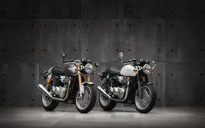 Picture motorcycle, triumph, truxton 2016