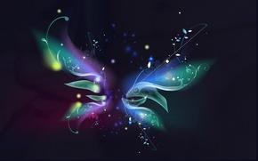 Picture flower, abstraction, dark
