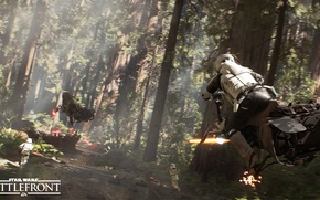 Picture forest, star wars, star wars, the rebels, stormtroopers, Electronic Arts, dice, FPS, Frostbite 3, battlefront, …
