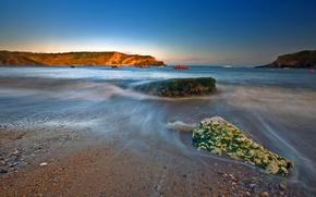 Wallpaper water, stones, shore