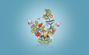 Wallpaper special, Minimalism, flower