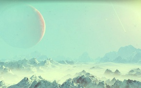 Picture space, rock, sky, winter, rocks, snow, hills, hill, planet, nms, no mans sky, mounatins, mounatin
