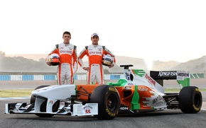 Wallpaper Formula 1, the car, Formula 1, Force India, Force India, P. Di Resta, Andrian Sutil