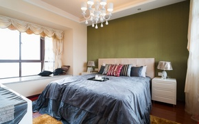 Picture design, room, bed, interior, pillow, bedroom, lamps