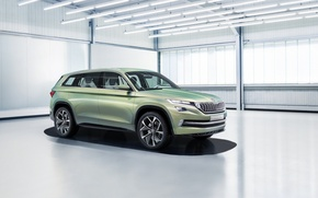 Wallpaper Concept, the concept, Vision, Skoda, Skoda