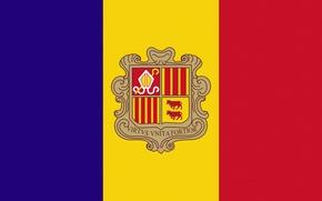 Picture Flag, Andorra, Andorra, Vertically