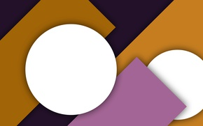 Picture white, purple, yellow, abstraction, geometry, design, color, material, lilac background