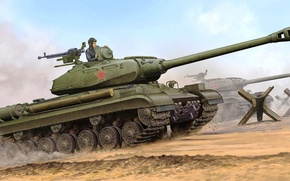 Picture war, art, painting, tank, Is-4, IS-4