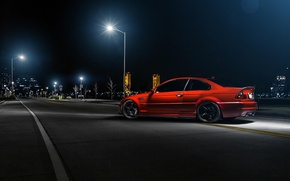 Picture night, red, BMW, BMW, lights, red, rear, street, E46, Richard Le