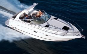 Picture sea, wave, boat