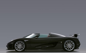 Picture black, supercar, side view, carbon, CCXR, Koenigsegg ccx products