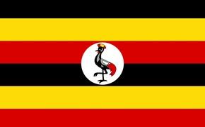 Picture red, logo, black, yellow, Africa, Uganda
