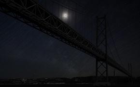 Picture bridge, river, Portugal, Tagus, Lisbon