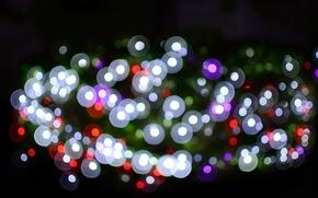 Picture light, lights, background, color, Blik