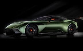 Picture green, Aston Martin, the volcano, Aston Martin, 2015, Vulcan