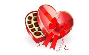 Picture holiday, gift, heart, chocolate, art, candy, Valentine's Day