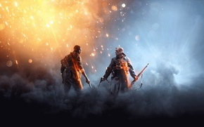 Picture The sky, Clouds, Lights, Look, Smoke, Fire, Military, Rifle, Electronic Arts, DICE, Equipment, Weapons, Frostbite, …