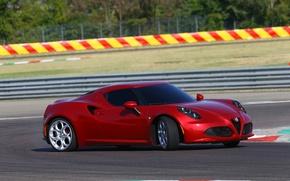 Picture turn, skid, Alfa Romeo, track, Alfa Romeo