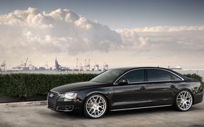 Picture Audi, black, V8L